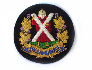 Queen's Own Cameron Highlanders Blazer Badges