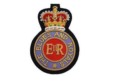 Blues And Royals Bullion Blazer Badge