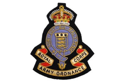 Royal Army Ordnance Corps Bullion Wire Blazer Badge