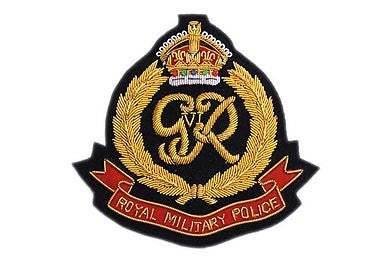 Royal Military Police Bullion Wire Blazer Badge