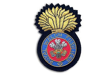 Royal Welch Fusiliers Bullion Wire Blazer Badge