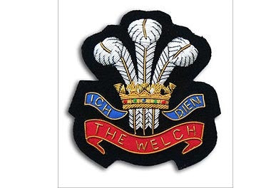 The Welch Regiment Bullion Wire Blazer Badge