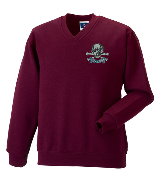 The Queens Royal Hussars V neckSweatshirt