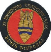 33 Eod Bomb Disposal Blazer Badge
