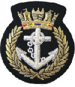 Royal Navy Blazer Badge (crown and Anchor)Blazer Badge