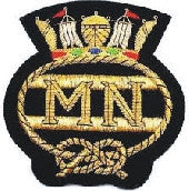 Merchant Navy Bullion Wire Blazer Badge