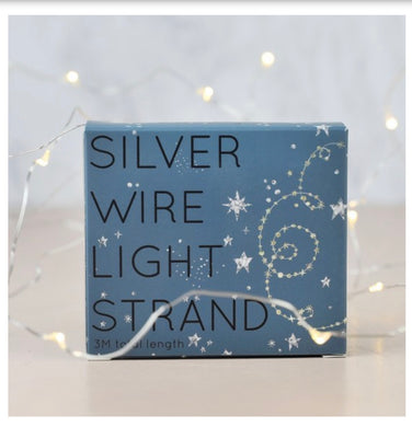 30 silver wire LED lights