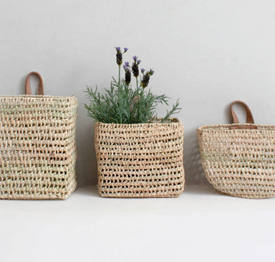 bohemian wall baskets