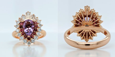 Custom Design: Hannah Falconer ring front and back view