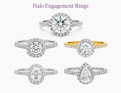 Matthews Jewellers Halo Diamond Engagement Rings