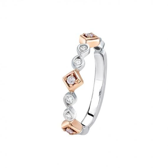 18K WHITE AND ROSE GOLD KIMBERLEY JENI DIAMOND SET RING - Matthews Jewellers