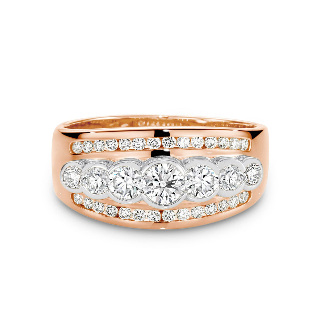 7 Stone Wide Band Ring - Matthews Jewellers