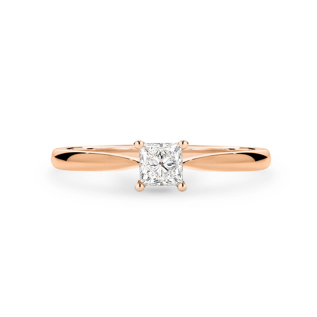 The Solitaire Princess Cut Diamond Engagement Ring - Matthews Jewellers