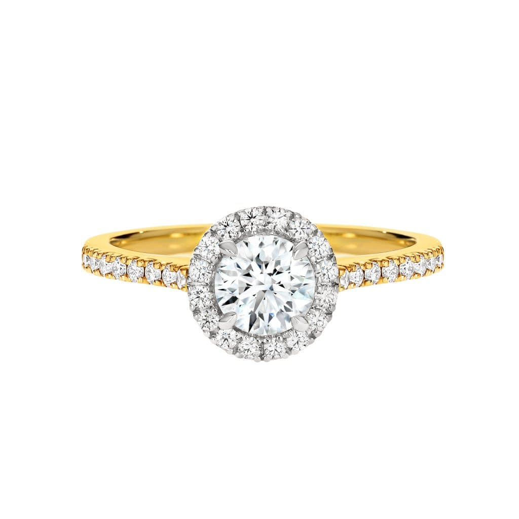 The Nova Round Halo Diamond Engagement Ring - Matthews Jewellers