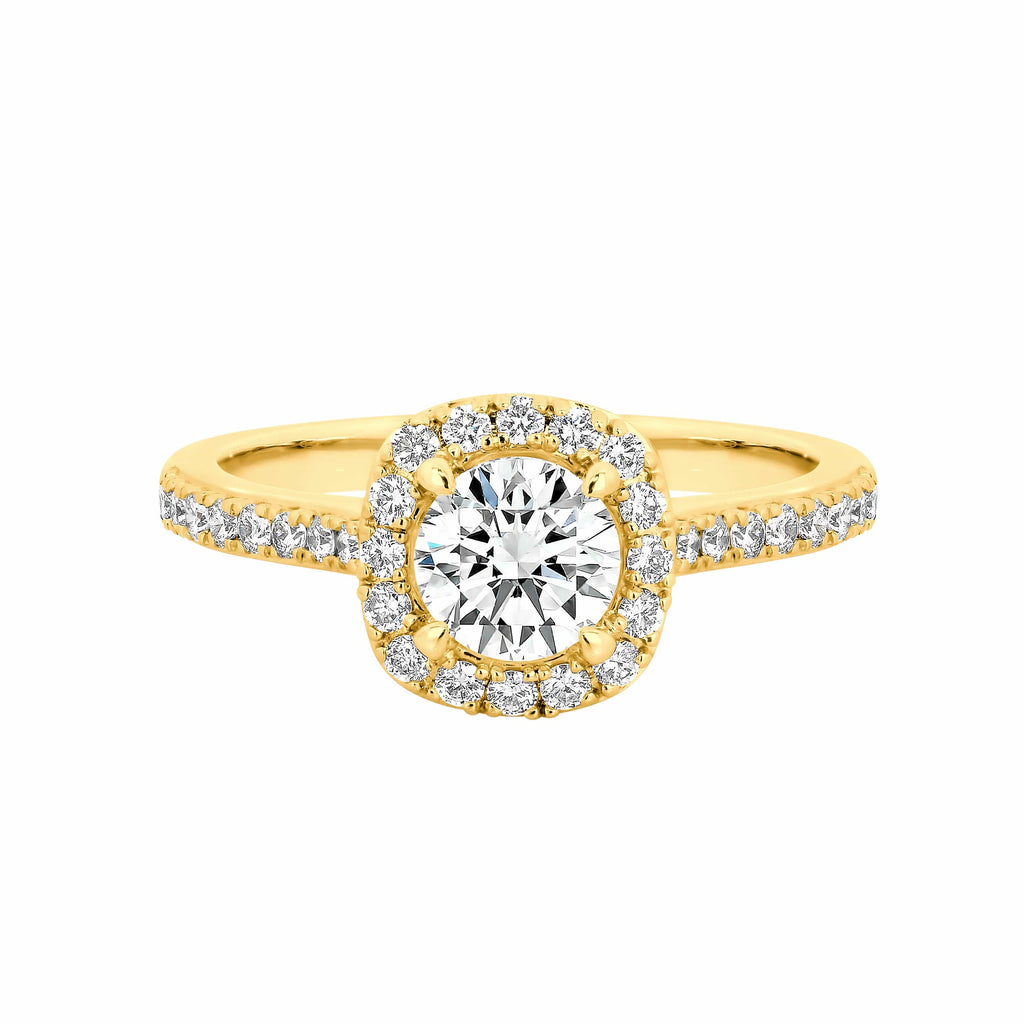 The Nova Cushion Shape Diamond Halo Engagement Ring - Matthews Jewellers