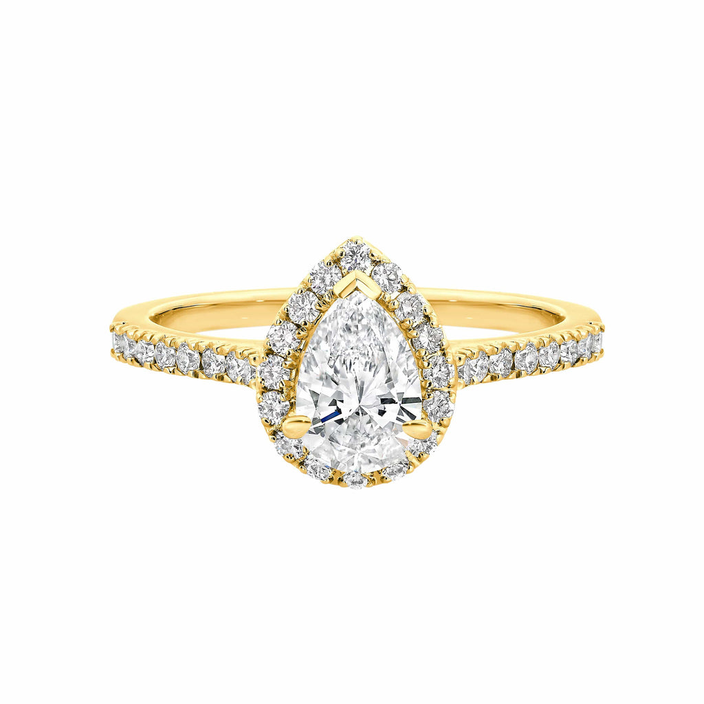 The Nova Pear Halo Diamond Engagement Ring - Matthews Jewellers