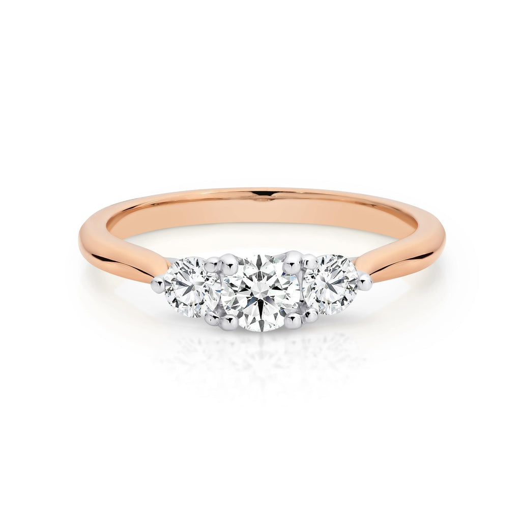 The Trilogy Round Diamond Engagement Ring - Matthews Jewellers