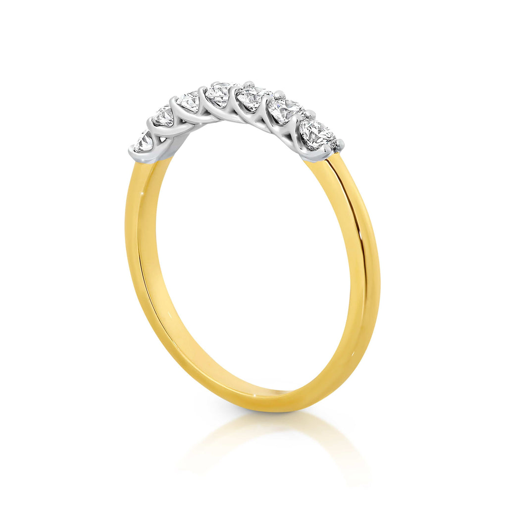 7 Stone Wedding Band - Matthews Jewellers