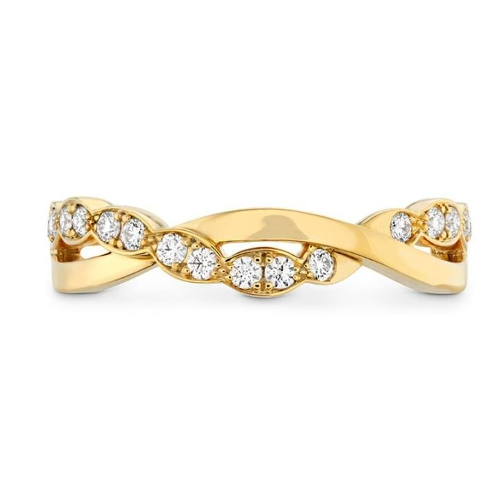 Hearts On Fire Rose Gold Lorelei Floral Twist Band - Matthews Jewellers
