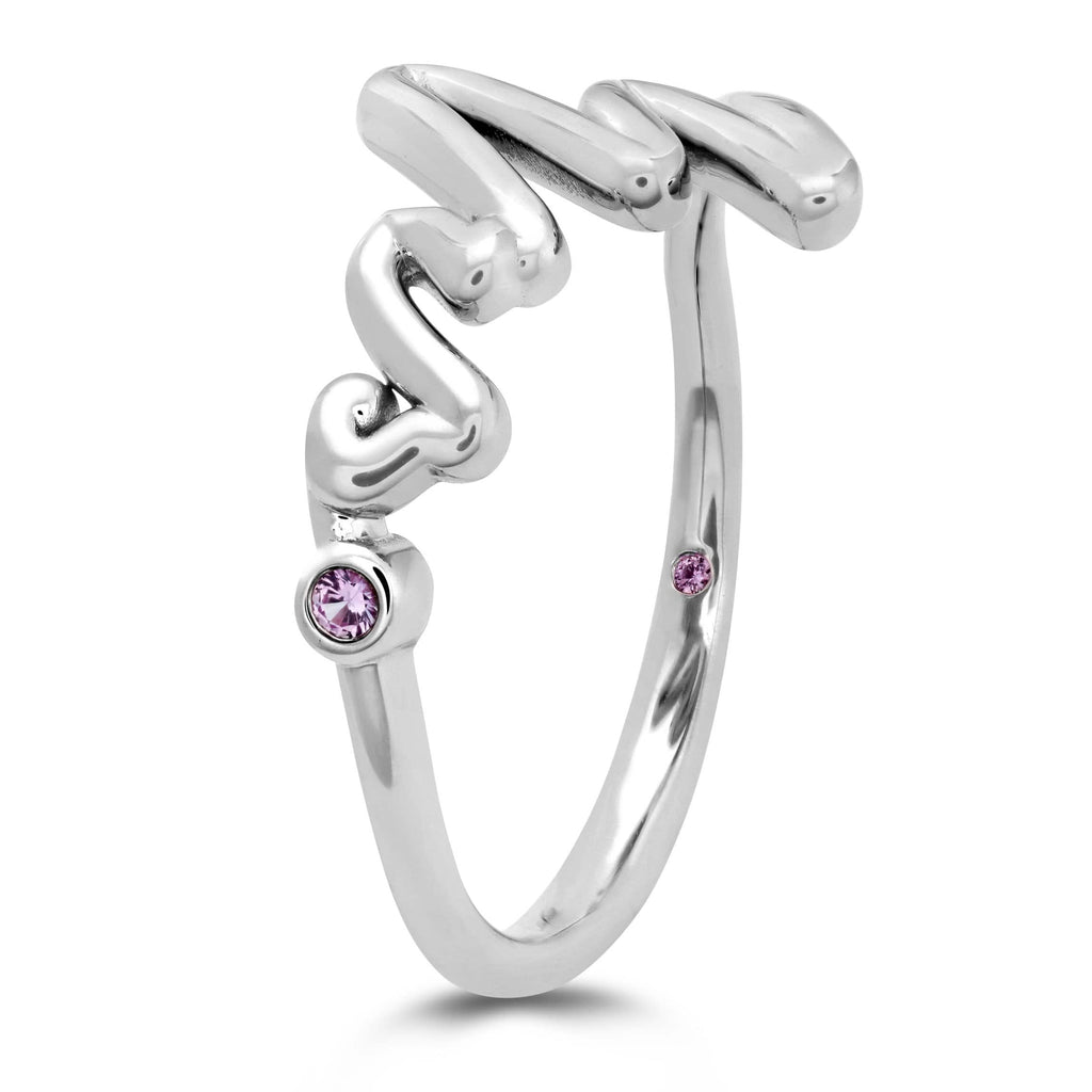 Love Code - Mrs Code Band with Sapphires - Matthews Jewellers