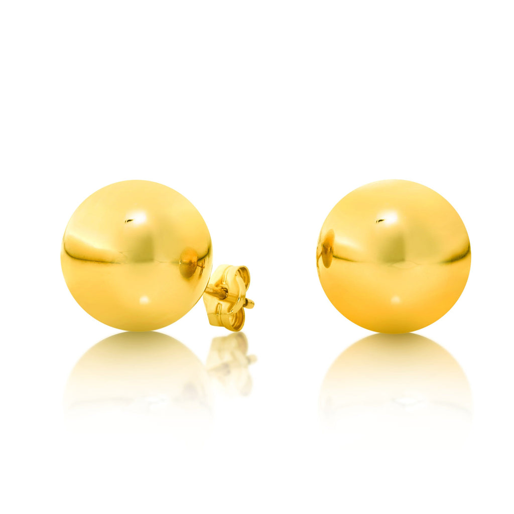 Gold Ball Studs - Matthews Jewellers