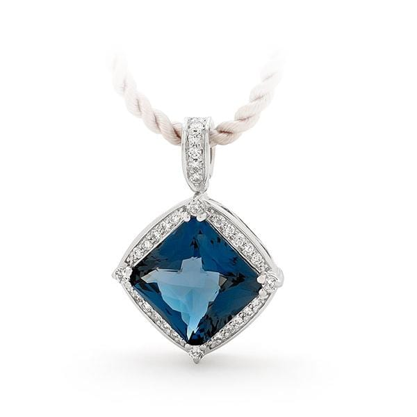 London Blue Topaz and Diamond Set Enhancer - Matthews Jewellers