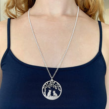 Load image into Gallery viewer, French Bulldog Tree Of Life Pendant Necklace - Silver/14K Gold-Plated - WeeShopyDog