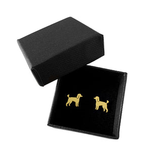 Poodle Stud Earrings - Silver/14K Gold-Plated |Line - WeeShopyDog