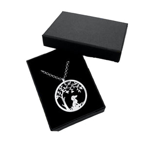 Dachshund Little Tree Of Life Pendant Necklace - Silver/14K Gold-Plated - WeeShopyDog