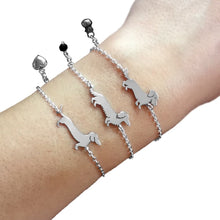 Load image into Gallery viewer, Dachshund Bracelet - Silver/14K Gold-Plated |Line - WeeShopyDog