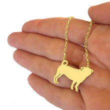 Load image into Gallery viewer, Pug Pendant Necklace - Silver/14K Gold-Plated |Line - WeeShopyDog
