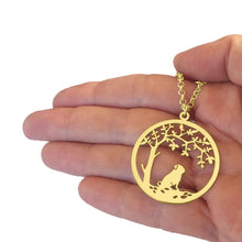 Load image into Gallery viewer, Pug Little Tree Of Life Pendant Necklace - Silver/14K Gold-Plated - WeeShopyDog