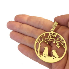 Load image into Gallery viewer, Pug Tree Of Life Pendant Necklace - Silver/14K Gold-Plated - WeeShopyDog