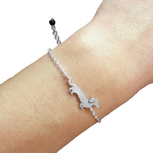 Dachshund Long Haired Bracelet - Silver/14K Gold-Plated - WeeShopyDog