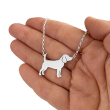 Load image into Gallery viewer, Beagle Necklace and Stud Earrings SET - Silver/14K Gold-Plated |Line - WeeShopyDog