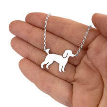 Load image into Gallery viewer, Poodle Pendant Necklace - Silver/14K Gold-Plated |Line - WeeShopyDog