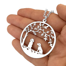 Load image into Gallery viewer, Beagle Tree Of Life Pendant Necklace - Silver/14K Gold-Plated - WeeShopyDog
