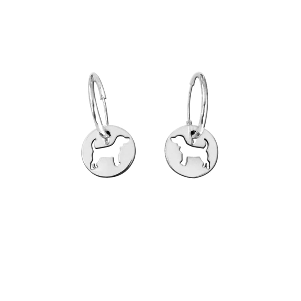 Beagle Earrings - Silver - WeeShopyDog