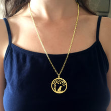 Load image into Gallery viewer, Jack Russell Necklace - 14K Gold-Plated - Tree Of Life - WeeSopyDog