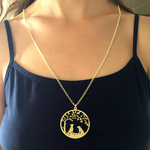 Jack Russell Pendant - 14K Gold-Plated - Tree Of Life - WeeSopyDog