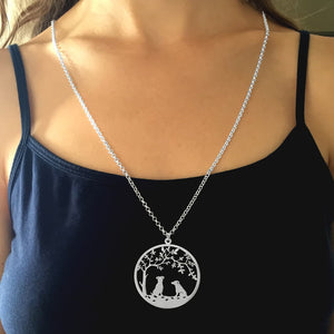 Jack Russell Necklace - Silver - Tree Of Life - WeeSopyDog