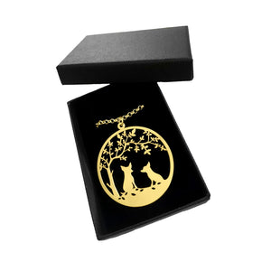 Chihuahua Tree Of Life Pendant Necklace - Silver/14K Gold-Plated - WeeShopyDog