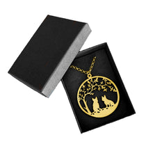 French Bulldog Tree Of Life - 14K Gold-Plated Pendant Necklace - WeeShopyDog