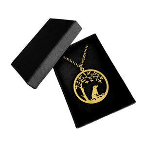 Jack Russell Pendant Necklace - 14K Gold-Plated - Tree Of Life - WeeSopyDog