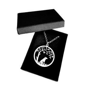 Jack Russell Pendant - Silver - Tree Of Life - WeeSopyDog