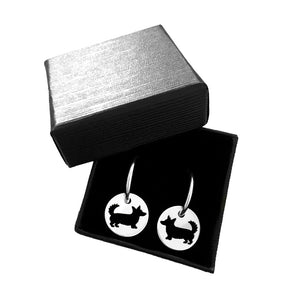 Cardigan Corgi Hoop Earrings - Silver Charm - WeeShopyDog