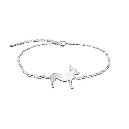 Chihuahua Bracelet - Silver/14K Gold-Plated |Line - WeeShopyDog