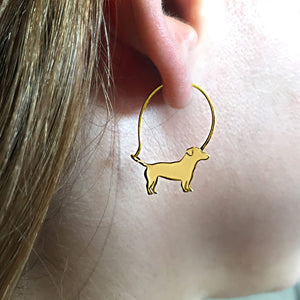 Jack Russell Earrings - 14K Gold-Plated - WeeShopyDog