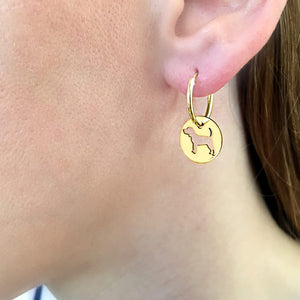 Beagle Earrings - 14K Gold-Plated - WeeShopyDog