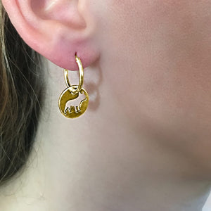 French Bulldog Earrings - 14K Gold-Plated - WeeShopDog